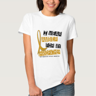 APPENDIX CANCER I Wear Amber For My Grandfather 37 Tee Shirts