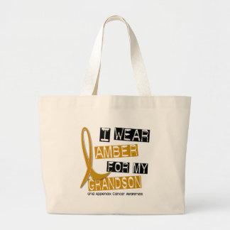 APPENDIX CANCER I Wear Amber For My Grandson 37 Jumbo Tote Bag