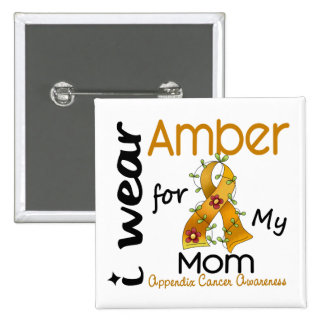 Appendix Cancer I Wear Amber For My Mom 43 15 Cm Square Badge