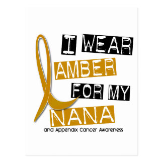 APPENDIX CANCER I Wear Amber For My Nana 37 Postcard