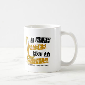 APPENDIX CANCER I Wear Amber For My Son-In-Law 37 Basic White Mug