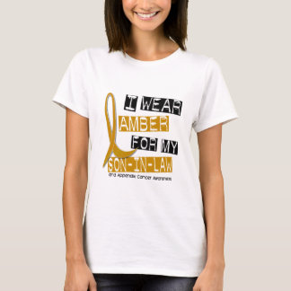 APPENDIX CANCER I Wear Amber For My Son-In-Law 37 T-Shirt
