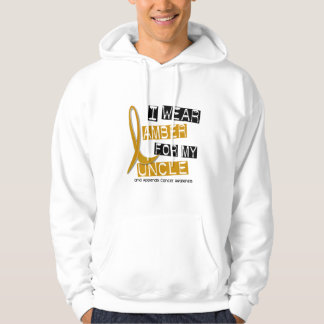 APPENDIX CANCER I Wear Amber For My Uncle 37 Hoodie