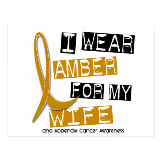 APPENDIX CANCER I Wear Amber For My Wife 37 Postcard