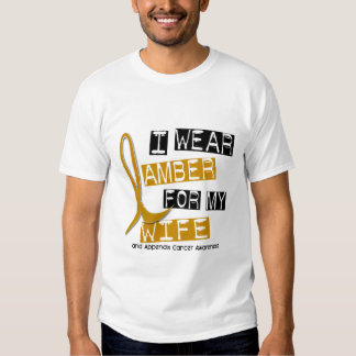 APPENDIX CANCER I Wear Amber For My Wife 37 T Shirts