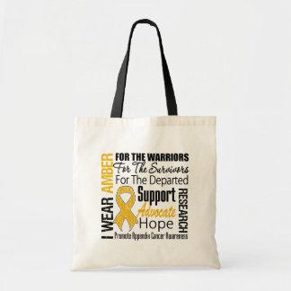 Appendix Cancer I Wear Amber Ribbon TRIBUTE Budget Tote Bag
