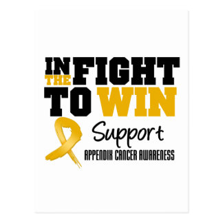 Appendix Cancer In The Fight To Win Postcard