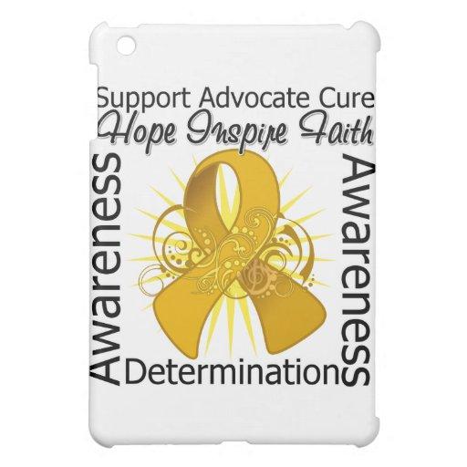 Appendix Cancer Inspirations Spiral Ribbon iPad Mini Cover
