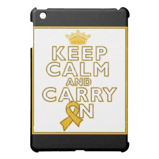 Appendix Cancer Keep Calm and Carry ON iPad Mini Case