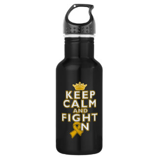 Appendix Cancer Keep Calm Fight On 532 Ml Water Bottle