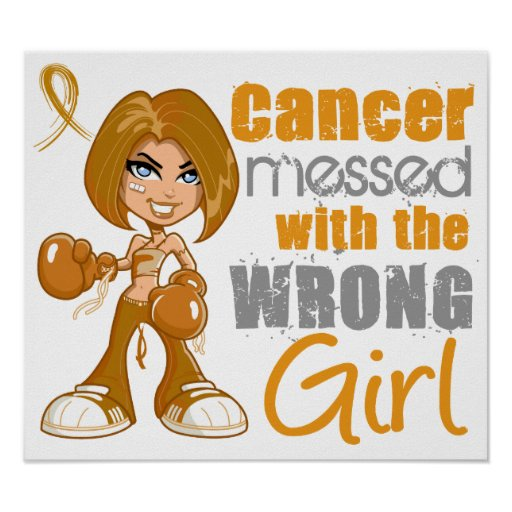 Appendix Cancer Messed With Wrong Girl Posters