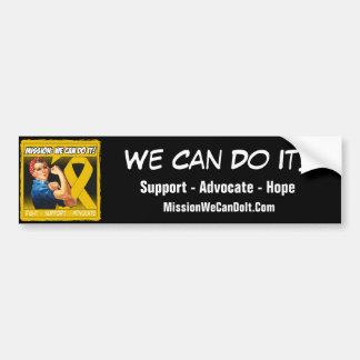 Appendix Cancer Mission We Can Do It Car Bumper Sticker