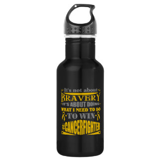 Appendix Cancer Not About Bravery 532 Ml Water Bottle