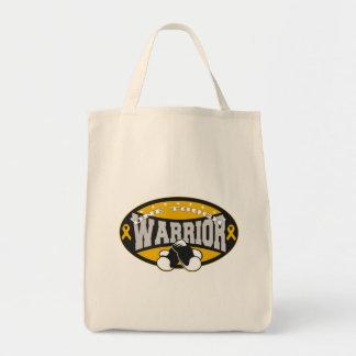 Appendix Cancer One Tough Warrior Canvas Bag