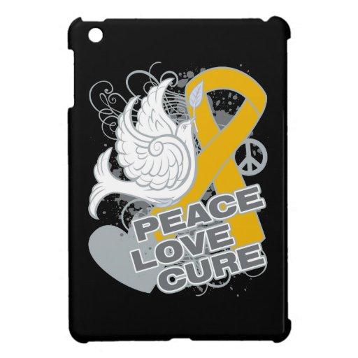 Appendix Cancer Peace Love Cure iPad Mini Covers