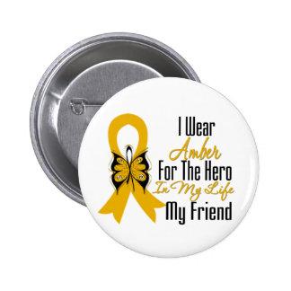 Appendix Cancer Ribbon Hero My Friend 6 Cm Round Badge