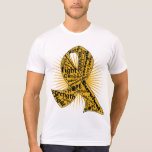 Appendix Cancer Ribbon Powerful Slogans