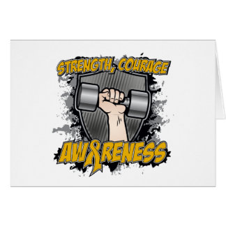 Appendix Cancer Strength Courage Men Greeting Card