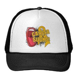 Appendix Cancer Sucks Scream It Trucker Hat