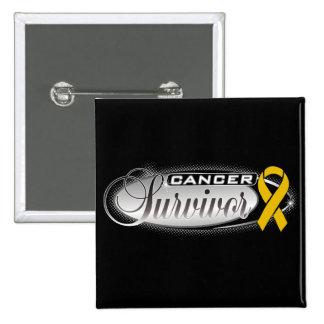 Appendix Cancer Survivor 15 Cm Square Badge