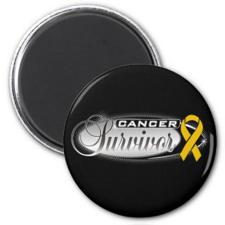 Appendix Cancer Survivor 6 Cm Round Magnet