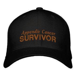 Appendix Cancer Survivor Embroidered Hat