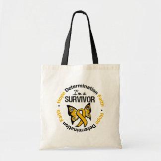 Appendix Cancer Survivor Hope Determination Faith Budget Tote Bag