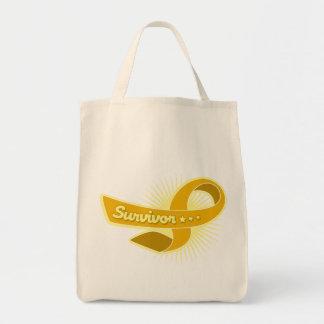 Appendix Cancer Survivor Ribbon Bags