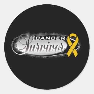 Appendix Cancer Survivor Round Sticker