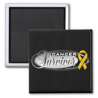Appendix Cancer Survivor Square Magnet