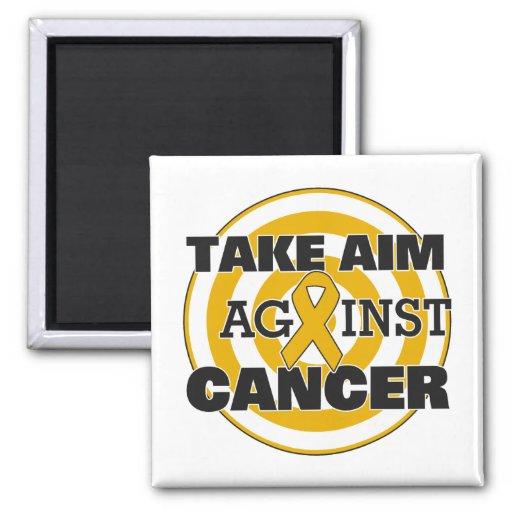 Appendix Cancer Take Aim Against Cancer Fridge Magnet