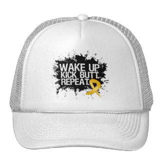 Appendix Cancer Wake Up Kick Butt Repeat Mesh Hats