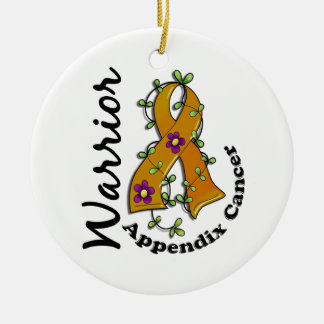 Appendix Cancer Warrior 15 Christmas Ornament