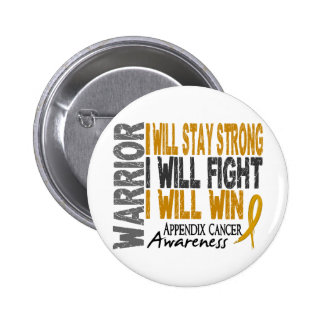 Appendix Cancer Warrior 6 Cm Round Badge
