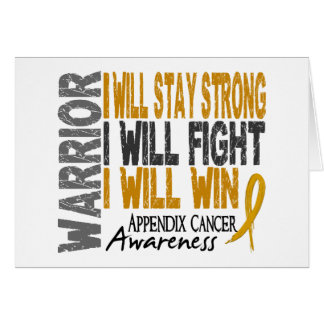 Appendix Cancer Warrior Greeting Cards