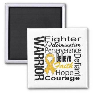 Appendix Cancer Warrior Collage Fridge Magnet