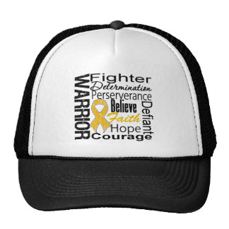 Appendix Cancer Warrior Collage Hats