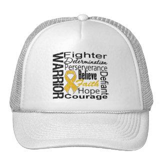 Appendix Cancer Warrior Collage Mesh Hat