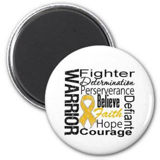Appendix Cancer Warrior Collage Refrigerator Magnet