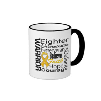Appendix Cancer Warrior Collage Coffee Mugs