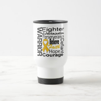 Appendix Cancer Warrior Collage Mugs