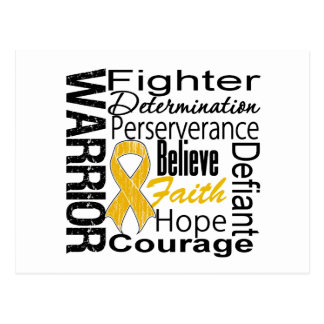Appendix Cancer Warrior Collage Postcard