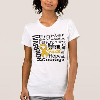 Appendix Cancer Warrior Collage Tshirt