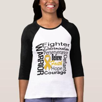 Appendix Cancer Warrior Collage Tee Shirt