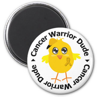 Appendix Cancer Warrior Dude Fridge Magnets