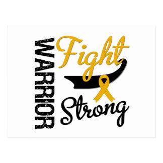 Appendix Cancer Warrior FIGHT STRONG Postcard