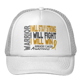 Appendix Cancer Warrior Hats
