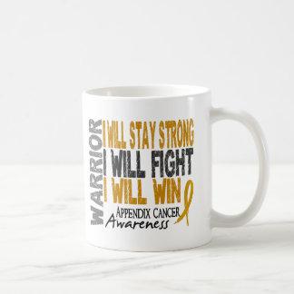 Appendix Cancer Warrior Coffee Mugs