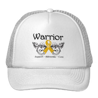 Appendix Cancer Warrior Scroll Trucker Hats