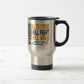 Appendix Cancer Warrior Stainless Steel Travel Mug